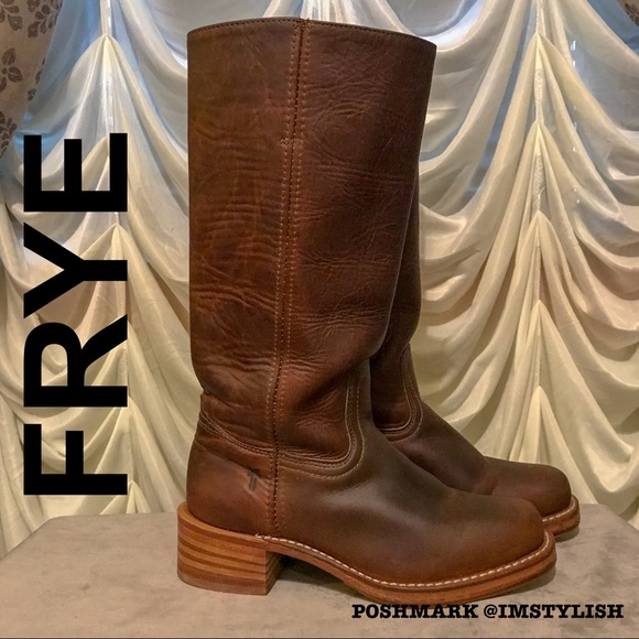 Frye Shoes - EUC Frye Campus 14L Boots Dark Brown Distressed